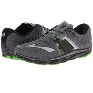 mens Brooks green/gray running shoes 9.5